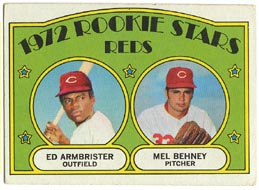 1972 Topps Baseball Cards      524     Ed Armbrister RC/Mel Behney RC